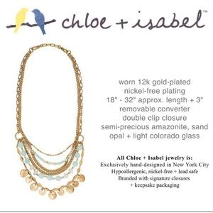 Chloe + Isabel Sand & Sky Convertible Necklace NWT